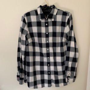 Talbots Black & White Check Shirt S